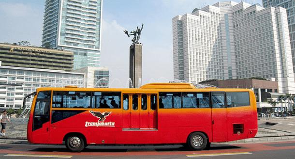 A Transjakarta Bus
